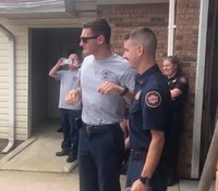 Video: Colorblind Ga. firefighter sees American flag for the first time
