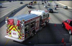 Whether responding to a structure fire, a brush fire or a medical assist, our personnel and apparatus are exposed to the danger of being hit by vehicles operated by drowsy, distracted, drugged or just plain dangerous drivers. (Photo/Fire Chief Digital Edition)