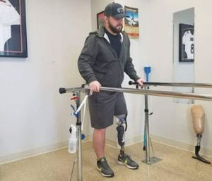 """I'd like to be the first firefighter in Colorado to have an above-the-knee amputation,"" Macdonald said. (Courtesy photo)"