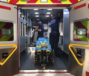 In one of Burton's examples, EMS providers responded to a 70-year-old male who was experiencing back pain after a fall. (Photo/City of Tempe, Ariz.)