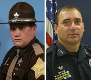 Deputy Jacob Pickett, left, and Officer Robert Pitts were both fatally shot in the line of duty. (Photo/Boone County Sheriff's Office/Terre Haute PD)
