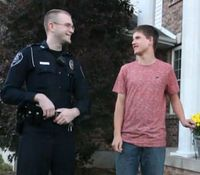 Mo. cop replaces autistic teen's stolen Halloween decoration