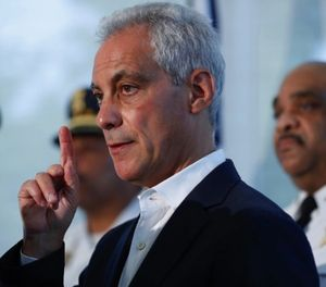Mayor Rahm Emanuel of Chicago introduced the new deal on Thursday. (Jose M. Osorio/Chicago Tribune/TNS)