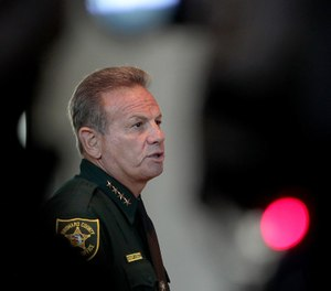 Sheriff Scott Israel speaks at the Marjory Stoneman Douglas High School Public Safety Commission meeting on November 15, 2018, in Sunrise, Fla. (Mike Stocker/South Florida Sun-Sentinel/TNS)