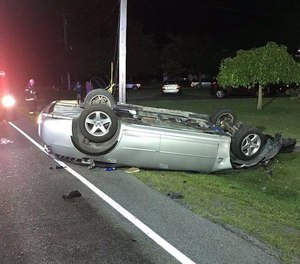 Police say David Flansburg was turning when he lost control in his Dodge Charger, causing his car to go airborne before landing on its roof. (Photo/Tribune News Service)