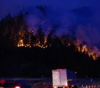 Ore. FF airlifted to hospital after injury while battling Milepost 97 wildfire
