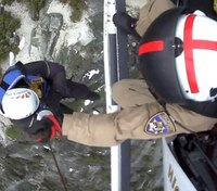Video: Calif. Highway Patrol helicopter rescues 2 trapped hikers