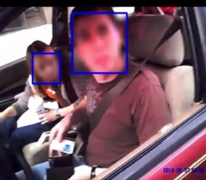 The software automatically blurs all faces captured on video – without the need for a user to 'mark' the faces prior to redaction. (Vievu Image)