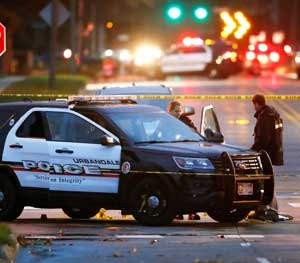 Urbandale Police Officer Justin Martin was murdered in an ambush while he sat in his patrol vehicle. (AP Image)