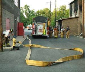 When there is a kink in the hose line, flow and pressure are reduced by almost 50 percent. (Courtesy photo)