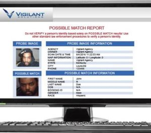 Facial recognition technology from Vigilant Solutions helps agencies identify persons of interest (photo/Vigilant)