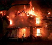 Volunteer firefighter: House fire timeline