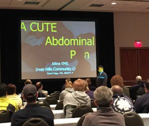 Page presents the aCUTE Abdomen at the 2015 WEMSA Working Together conference.