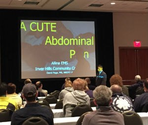 David Page teaches EMTs and paramedics about abdominal pain assessment. (Photo/Greg Friese)