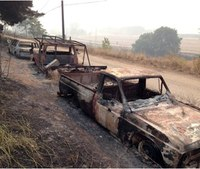 Massive wildfire empties another Wash. town