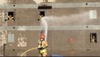 Video: Ariz. firefighters play 'Whac-A-Firefighter' hose training