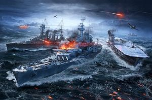 World of Warships battle scene (Photo/World of Warships)