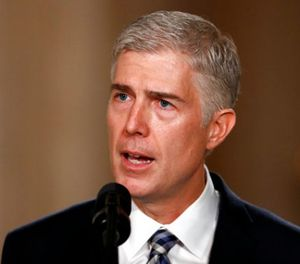 In this Jan. 31, 2017, file photo, Judge Neil Gorsuch speaks in the East Room of the White House in Washington, after President Donald Trump announced Gorsuch as his nominee for the Supreme Court. (AP Photo/Carolyn Kaster, File)