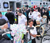 NC hospital fills 5 ambulances, semi-truck with holiday gifts