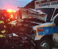 2 paramedics hurt in W. Va. ambulance crash