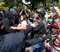 Calif. police seek more suspects after violent rallies