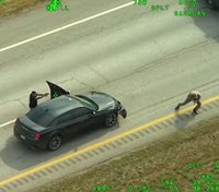 Aerial footage shows deadly shootout that left 1 LEO wounded, 1 suspect dead