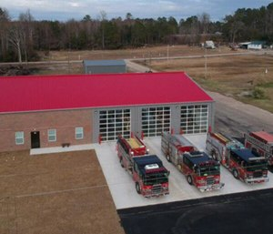 Autryville's new fire station has a larger bay size allowing for more room if there's a need to add more trucks. (Photo/AFD)