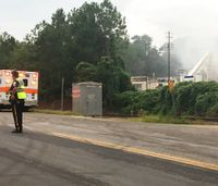 Firefighters battle blaze at Ala. chemical plant