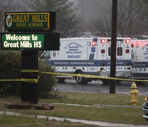 """Lexington Park Volunteer Rescue Squad Deputy Chief Michael Cahall said it was """"God's call"""" that made him able to rush to the scene of the Parkland school shooting. (Photo/AP)"""