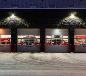 The mechanical systems, structural design and architectural functionality of a fire station's apparatus bays should be designed with both the fire apparatus and firefighters in mind. (iStock/lippyjr)
