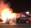 'Heroic' Calif. cop rescues unconscious man from burning car