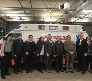 Armstrong Ambulance hosted an international EMS exchanges with members of the New Tapai Fire Department in December, 2018. (Photo/Armstrong Ambulance)