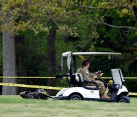 Army helicopter crashes into golf course; 1 dead, 2 hurt
