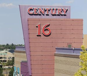 An overhead view of the Century 16 theatre east of the Aurora Mall in Aurora, Colo. (AP Image)