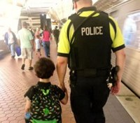 Thankful mom reunited with transit cop who calmed her autistic son on train ride