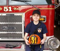 Autistic teen becomes firefighter for a day