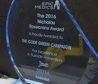 Code Green Campaign receives injury prevention award