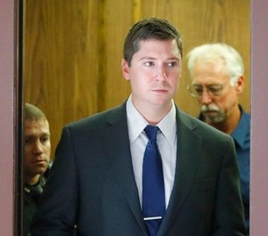 In this July 19, 2015, file photo, Ray Tensing arrives at court on the fourth day of jury deliberations in his murder trial, in Cincinnati. (AP Photo/John Minchillo, File)