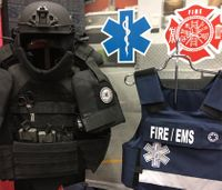 Texas firefighters equipped with body armor