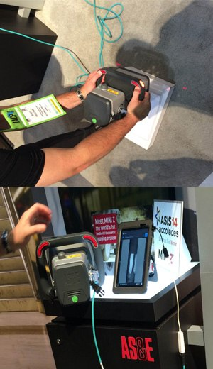 """AS&E demonstrates the MINI-Z Backscatter on a """"unattended package"""" carrying synthetic narcotics. (PoliceOne Photo)"""