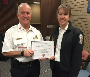 Battalion Chief Kathleen Stanley was appointed Women's Program Officer by Fairfax County Fire and Rescue Department Chief Richard Bowers. (Photo/Fairfax County Fire Department)