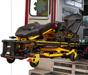 Using a powered cot, like Stryker's Power-PRO XT, can help significantly reduce spinal loading and exertion during patient transport, reducing the likelihood of provider injury. (photo/Stryker)