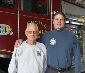 Phil Behrend and Marc Behrend. (Photo/Madison Fire Department)