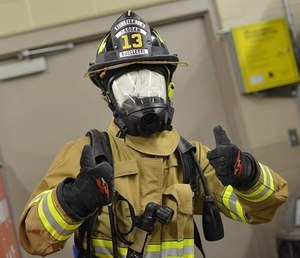 d19d9b2fc1d Firefighters practice skills in  Jeff s Box  drill while blindfolded