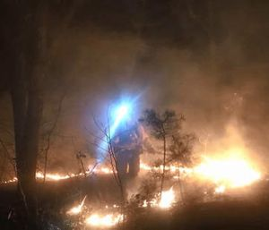 A Tennessee man who was trapped under his ATV for three days started a brush fire to signal for help. (Photo/Facebook)