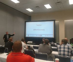 Chief Richard B. Gasaway stressed the importance of mental engagement in his session on flawed situational awareness at FRI. (Photo/Bart van Leeuwen via Twitter)