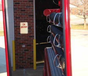 Make sure to use these safety strategies at all times when you are backing up a fire vehicle of any size. (Photo/CDC)
