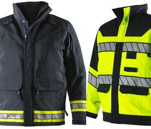 Blauer Hi-Vis and Dark Navy parkas. (Photo/Blauer)