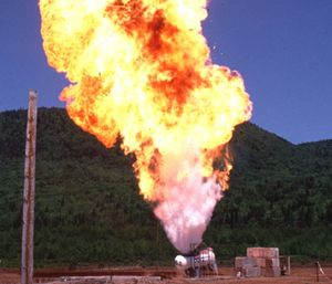 A BLEVE is a boiling liquid expanding vapor explosion, which occurs when pressurized liquid inside of a vessel, such as a propane tank, reaches temperatures higher than that liquid's boiling point. (Photo/JusticeDepartment.org)