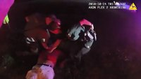 Body cam video released of fiery crash involving suspected kidnapper